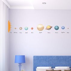 The Solar System Planets Educational Wall Sticker - V
