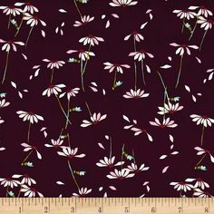 Art Gallery Playground He Loves Me Plum from @fabricdotcom  Designed by Amy Sinibaldi for Art Gallery Fabrics, this cotton print…