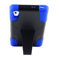 SONY XPERIA Z3V HYBRID BLACK/BLUE HARD PHONE CASE COVER WITH KICKSTAND.(VERIZON)