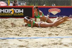 Sand swimming for Italy's Marta Menegatti and Viktoria Orsi Toth