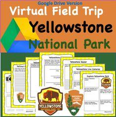 Google Drive Version- Yellowstone National Park Virtual Field trip Science Writing, Writing Activities, Fun Activities, Yellowstone National Park, National Parks, Virtual Field Trips, Old Faithful, Critical Thinking, Google Drive