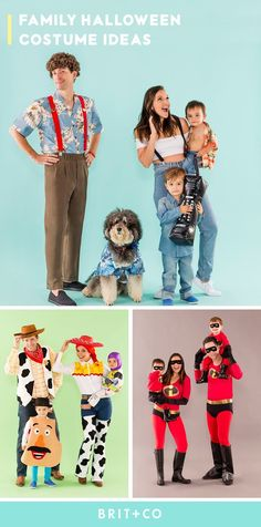 Dress up the whole fam for Halloween with these fun family costume ideas!  Easy Costumes 3dc2639dcf15