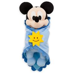 disney parks baby mickey mouse plush toy with blanket new with tag Disney Plush, Disney Toys, Baby Disney, Disney Theme, Disney Disney, Marie Cat, Disney Stuffed Animals, Stitch And Angel, Baby Mickey Mouse
