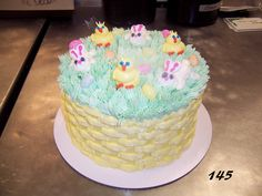 This basketweave cake is great for Easter