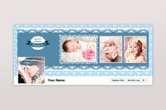 New born facebook timeline cover Template PSD