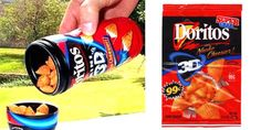 3D Doritos: | 35 Foods From Your Childhood That Are Extinct Now  :O remembering the best foodssss
