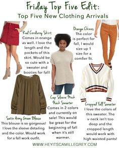 Friday Top Five Edit: Top Five New Clothing Arrivals | Hey Its Camille Grey #clothing #newarrivals #fashion #fallfashion #sweaters #fall