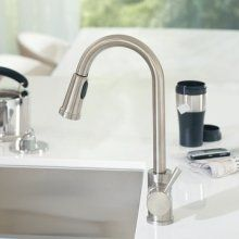 best kitchen faucets - Moen 7175 kitchen faucet. Approx $197. Avg 4.8 stars, 68 reviews. Available in chrome & stainless. Pulldown high-arc spout with one-handle lever.