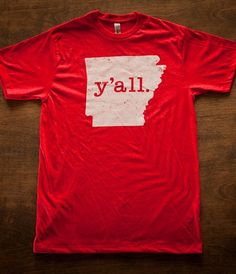 Best Arkansas shirt ever.  Y'all T-Shirts | HIllcrest Waterbugs | Bourbon & Boots