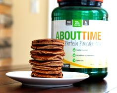 About Time Silver Dollar Chocolate Chip Protein Pancakes | The Fit Foodie Mama #GlutenFree #ad