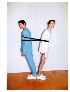 Alexey Galetskiy and Jacob Morton lensed by Tatiana Leshkina and styled by Katie Burnett for the latest issue of Hunter magazine.