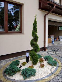 Сади Едема: Фотографії. Львівська область Japanese Garden Backyard, Backyard Garden Landscape, House Landscape, Landscape Design, Front Gardens, Outdoor Gardens, Brick Garden, Modern Garden Design, Vegetable Garden Design