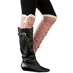 Pink Button Knit Leg Warmer