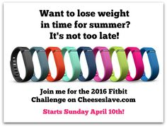 Join me next Sunday and lose weight before summer!  Sign up today -- and you can pig out the rest of the week and not feel guilty LOL