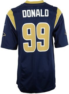 47f3a59d5 Nike NFL Los Angeles Rams Game (Aaron Donald) Men s Football Jersey ...