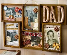 Plaid Mod Podge Directions                                  Decoupage - Collage Frame Father's Day