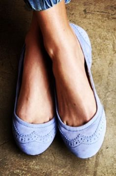 Wing Tipped Lavender Flats ღ - actually I'll take a pair in every color.