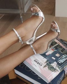 Ali - Silver – Shoes by Alexandria Brandao Silver Heels Prom, Prom Heels, Silver Shoes, Sexy Heels, Stilettos, Pumps, Chunky Sandals, Chunky Heels, Beautiful High Heels