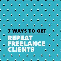 """What's better than a new client inquiry in your inbox? An old client who wants to work with you again. Repeat clients are great because there's less of a client """"onboarding"""" process, you both know each others' expectations, and you spent $0 marketing to them. Here are 7 ways to get repeat clients: 1. Follow your ex-clients on social media. Retweet or like their posts periodically. You'll be surprised who watches these numbers! Learn more about how to find clients on social media here. 2…"""