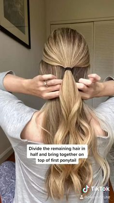 Hairdo For Long Hair, Easy Hairstyles For Long Hair, Easy Ponytail Hairstyles, Easy Hairstyles Tutorials, Simple Hairstyles For Long Hair, Cute Easy Ponytails, Business Casual Hairstyles, Long Hair Dos, Ponytail Easy