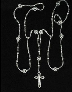 Wedding Lasso Style LA1354SV- Lasso with Crystal and Silver Beads