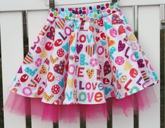 Child's Skirt w/ tulle bold & beautiful colors by Sewingfor4, $20.00