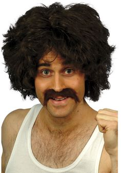 You can buy a retro wig and tash set for your retro costume in parties from the Halloween Spot. This brown wig and tash set will match with retro costumes. 1980s Fancy Dress, Fancy Dress Wigs, Costume Wigs, Costume Dress, Halloween Costume Accessories, Halloween Costumes, Adult Halloween, Funny Halloween, Fancy Dress Accessories