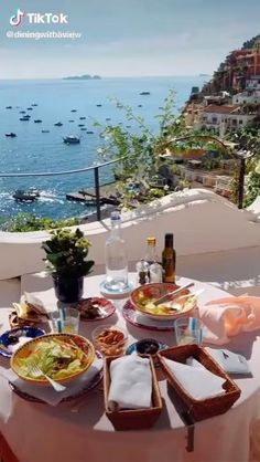 Beach Trip, Vacation Trips, Breakfast Around The World, Lindos Videos, Positano Italy, Beautiful Places To Travel, Europe Destinations, Romantic Getaways, Italy Travel