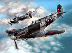 VI NN-Y Czechoslovak Squadrons - Stan Hajek - Special Hobby Ww2 Fighter Planes, Air Fighter, Ww2 Planes, Fighter Jets, Ww2 Aircraft, Military Aircraft, Kamikaze Pilots, The Art Of Flight, The Spitfires