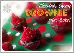 Holiday Baking with #ClearAmerican – Chocolate-Cherry Brownie Mini-Bites! #CBias