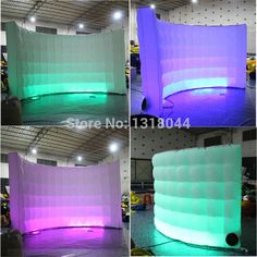 Attractive Bright led colorful 3mW small inflatable wall partition room divider #Affiliate