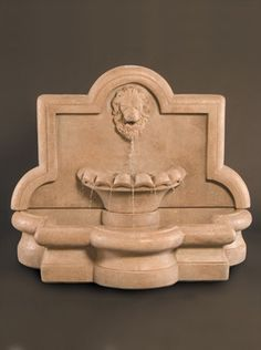 The Large Lion Quatrefoil Wall Fountain will absolutely give your outdoor scene a touch of serenity and elegance. This beautiful cast stone fountain has been Outdoor Spa, Large Outdoor Fountains, Stone Fountains, Garden Fountains, Outdoor Walls, Water Fountains, Garden Statues, Outdoor Furniture, Diy Water Fountain