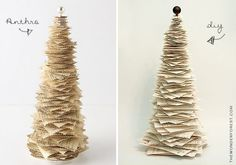 DIY Anthro Inspired Paper Pine Tree!!! Tutorial!