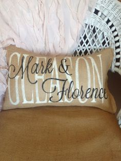 The Funky Monkey Giveaway: Custom Family Name Pillow - Ends 1/28/14