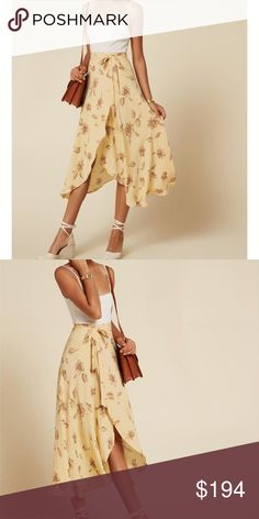 5710f7ced41c9b Reformation Newman Wrap Skirt in Tuscany (yellow) Sold out Reformation skirt!  Beautiful color