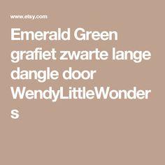 Emerald Green grafiet zwarte lange dangle door WendyLittleWonders