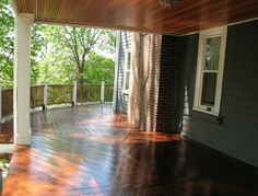 Mahogany deck was originally built about 5-6 years ago and hasn't been refinished since. Can't say enough about this company- professional, efficient, and above all, competent. The deck looks better than new. We've already been getting compliments by our neighbors. Will definitely be using them for continued upkeep and would highly recommend them to anyone looking to restore their woodwork.""