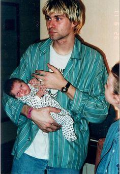 kurt cobain, frances bean cobain, and grunge image