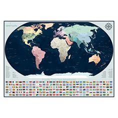 Amazon seenada goods world scratch off travel map poster w amazon seenada goods world scratch off travel map poster w accessories gumiabroncs Images