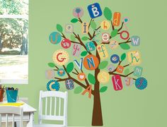 RoomMates - Alphabet Trees http://www.westcoastkids.ca/NEW-Baby-Kids-Products/Roommates---ABC-Tree-Giant-Wall-Decals