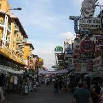 Khao San Road-The backpacking district of Khao San Road is the traveler hub of South East Asia. Jam-packed with raucous bars and restaurants as well as budget hostels, it's a favorite for late-night revelers. #Bangkok #Thailand