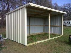 basic loafing shed blueprints | SIZE: 12x24 loafing shed- steel framing- light stone r-panel/black ...