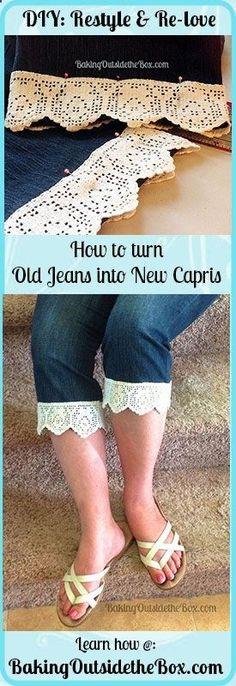 Jeans to capris