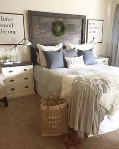 The Extra Tall Gunner Head Headboard Master Bedroom Bathroom, Bedroom Decor, Bedroom Ideas, Bedroom Designs, Bedroom Inspiration, Welcome To My House, Guest Bedrooms, Decorating Your Home, Decorating Tips