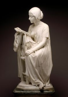 The Reading Girl (La Leggitrice) by Magni model 1856, carved 1861 marble National Gallery of Art, Washington DC