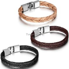 21cm Men Jewelry Trend simple wild braided leather bracelet   Wristband de couro pulseiras masculinos 2015 new 5 styles