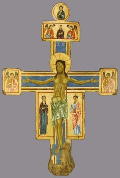 Master of the Bigallo Crucifix Italian, active c. 1225-65  Crucifix, 1255/65  Tempera on panel 75 1/4 x 50 1/8 in. (191 x 127.2 cm)