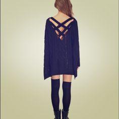 "Tobi ""Triana"" Oversized Knit Sweater ♠️ Never worn! Perfect condition! Oversized. Cross cross back Tobi Sweaters Shrugs & Ponchos"