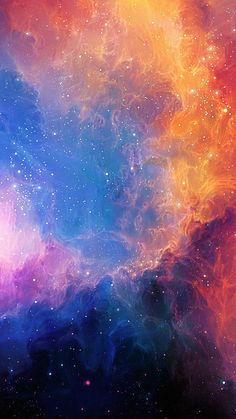 Space Aurora Art Star Illust Rainbow  #iPhone #6 #plus #wallpaper