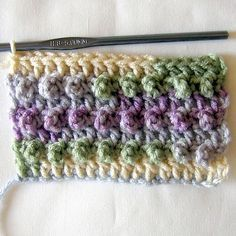 Triple Crochet Loops is a fast moving stitch pattern that forms a beautiful texture. Free instruction on the web. PLUS FREE PDF DOWNLOAD. http://www.moms-crochet.com/triple-crochet-loops.html